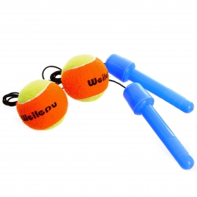 Тренажер для координации (ручки с двумя мячиками) WEILEPU BC-6895 цвета в ассортименте