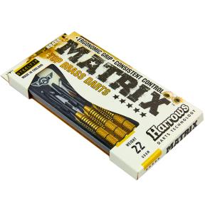 Дротики для игры в дартс цилиндрические PRO BRASS B106-22 MATRIX (сталь, вес 22гр, 3шт.,+3хвост,+3опер)