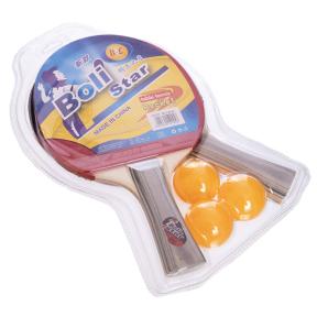 Набор для настольного тенниса 2 ракетки, 3 мяча Boli Star MT-9005 (древесина, резина, уп. блистер)