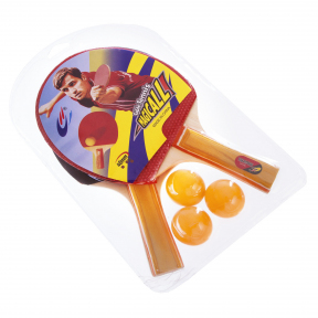 Набор для настольного тенниса 2 ракетки, 3 мяча Macical MT-666-1 (древесина, резина, пластик)