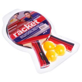 Набор для настольного тенниса 2 ракетки, 3 мяча MK 0206 (древесина, резина, пластик)
