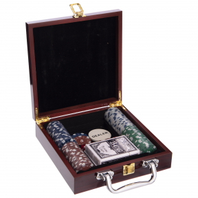 Набор для покера в деревянном кейсе SP-Sport IG-6641 100 фишек