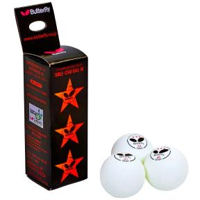 Набор мячей для настольного тенниса 3 штуки BUT MT-1855 516003-G03010302-1 (d-40мм, белый)