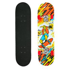 Скейтборд в сборе (роликовая доска) HB059 (колесо-PVC, р-р деки 78х20х1,2см, 608Z)