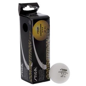 Набор мячей для настольного тенниса 3 штуки SGA 3 Star COMPETITION MT-5943 (d-40мм, белый)