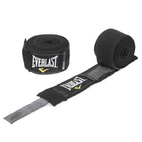 Бинты боксерские (2шт) хлопок EVERLAST P00000155 (l-4,5м, черный)