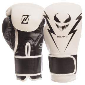 Перчатки боксерские PU на липучке ZELART BO-1420 (р-р 10-14oz, цвета в ассортименте)