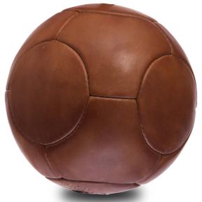 Мяч футбольный Leather VINTAGE F-0252 №5 коричневый