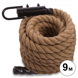 Канат для кроссфита COMBAT BATTLE ROPE FI-0909-9 (сизаль, ручки:винил, l-9м,d-3,8см)
