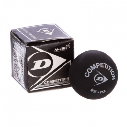 Мяч для сквоша DUNLOP (1шт) 700112 REV COMP XT SINGLE DOT (резина, черный)