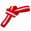 Пояс для кимоно двухцветный SP-Planeta красный-белый-красный BO-7264 (хлопок, размер 00-5, длина 220-280см)