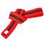 Пояс для кимоно двухцветный SP-Planeta красный-черный-красный BO-7265 (хлопок, размер 00-5, длина 220-280см)