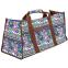 Сумка для йога коврика Yoga bag DoYourYoga FI-6971-2 (размер 22х24х54см, полиэстер, хлопок, бежевый-синий-фиолетовый)